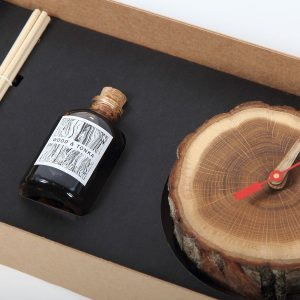 forestime wooden clock closeup
